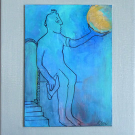 Margaret Stone, , , Original Painting Acrylic, size_width{Catching_Some_Rays-1535748678.jpg} X 10 inches