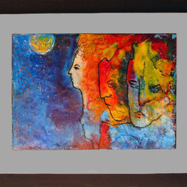 Margaret Stone, , , Original Painting Encaustic, size_width{Family_Ties-1535748557.jpg} X 11 inches