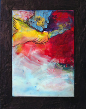 Artist: Margaret Stone's, title: Fly Away, 2014, Painting Encaustic