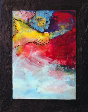 Margaret Stone, Fly Away, 2014, Original Painting Encaustic, size_width{Fly_Away-1452800331.jpg} X 10 x  inches