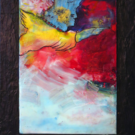 Margaret Stone, , , Original Painting Encaustic, size_width{Fly_Away-1535748497.jpg} X 10 inches