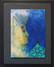 Artist: Margaret Stone's, title: Her Head In The Clouds, 2014, Painting Acrylic