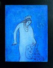 Artist: Margaret Stone's, title: Keeper Of The Zodiac, 2014, Painting Acrylic