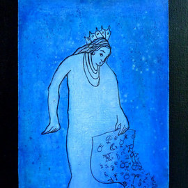 Margaret Stone, , , Original Painting Acrylic, size_width{Keeper_Of_The_Zodiac-1535748617.jpg} X 10 inches