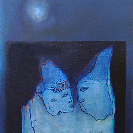 Margaret Stone, , , Original Painting Acrylic, size_width{Night_Gathering-1535749233.jpg} X 20 inches