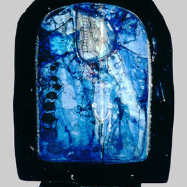 Margaret Stone, , , Original Glass, size_width{Night_of_the_Blue_Dream-1169756437.jpg} X 17 inches