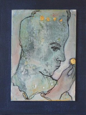 Margaret Stone; Treasure, 2014, Original Painting Acrylic, 8 x 10 inches. Artwork description: 241 A beautiful golden treasure.  It represents life and love and is to be cherished.  The painting is created in acrylic and ink.  It is mounted on a stretched canvas and is wired to hang.                ...