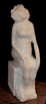 Marian Velescu; Maternity , 2010, Original Sculpture Stone, 11 x 7 cm. Artwork description: 241  Maternity is the beginning of the life. ...
