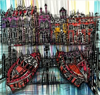 Maria Susarenko; Amsterdam, 2017, Original Other, 48 x 45 inches. Artwork description: 241 This artwork was inspired by amazing Amsterdam  art artist amsterdam architecture illustration abstract ink drawing modern...