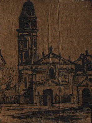 Mariela Rios; Pilar, 2006, Original Drawing Pen, 15 x 13 cm. Artwork description: 241                    drawing pen a church ...