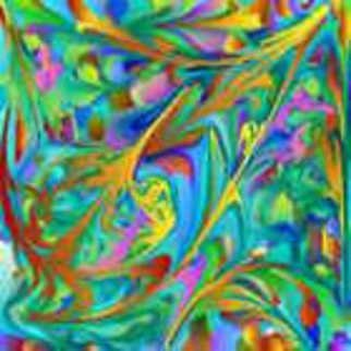 Mariela Rios; Fractal Alegre, 2008, Original Digital Art, 20 x 35 cm. Artwork description: 241               computer art- digital painting -        ...