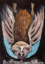 Artist: Marina Toshich's, title: Bat in Tel Aviv, 2004, Painting Acrylic