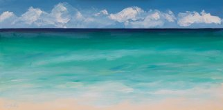 Marino Chanlatte, 'Beach 1', 2017, original Painting Acrylic, 30 x 15  x 1.5 inches. Artwork description: 1911 This painting is inspired on a view of South Beach, Miami. I was born on an island and the ocean has always been an inspiration. This painting has been protected with several layers of non- yellowing Grumbacher final varnish. Canvas depth is 1. 5 inches, painting extends ...