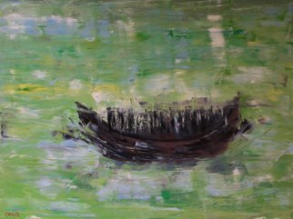 Marino Chanlatte; the boat people, 2017, Original Painting Oil, 48 x 36 inches. Artwork description: 241 This painting is inspired on the millions of people forced to flee their countries for economic or political reasons. This included countries from around the world. Refugees and immigrants from Asia, Middle East, Africa and the Caribbean countries, in their journey of hope for a better tomorrow. ...
