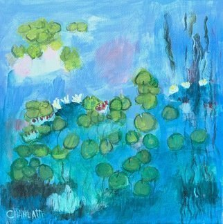 Marino Chanlatte, 'Water Lilies 11', 2017, original Painting Acrylic, 10 x 10  x 1.5 inches. Artwork description: 1911 I love to observe water lilies in the water and in the canvas, these are my water lilies.   Water, lilies, Monet, flowers, nature, impressionist ...