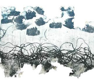 Marisa Keller; Eternal Thread, 2007, Original Printmaking Intaglio, 50 x 40 cm. Artwork description: 241  Single monoprint done in aquatint. This print is part of a series done for the exhibiton 'Lace' in Singapore 2008  ...