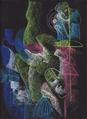Mario Ortiz Martinez, 'Mask 2', 2019, original Pastel, 9 x 11  inches. Artwork description: 3483 ALL KIND OF ELEMENTS DECORATING THIS SUGGESTIVE PAGE OF ART. COLORFUL PASTEL ON STRATHMORE ARTAGAIN COAL BLACK PAPER. THE FEAST OF IMAGINATION, PURE PLEASURE TO MANIPULATE THIS EXPRESSIVE MEDIA.  A RICH COLLECTION SUITABLE TO DECORATE THAT SPECIAL SPACE OF YOUR ROOM. ...