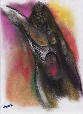 Mario Ortiz Martinez, 'Torso 2', 2019, original Pastel, 8 x 11  inches. Artwork description: 8313 ALL KIND OF ELEMENTS DECORATING THIS SUGGESTIVE PAGE OF ART. COLORFUL PASTEL ON PAPER. THE FEAST OF IMAGINATION, PURE PLEASURE TO MANIPULATE THIS EXPRESSIVE MEDIA.  A RICH COLLECTION SUITABLE TO DECORATE THAT SPECIAL SPACE OF YOUR ROOM. ...