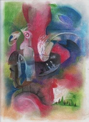 Mario Ortiz Martinez, 'Trip To Nemoia', 2019, original Pastel, 8 x 11  inches. Artwork description: 3483 ALL KIND OF ELEMENTS DECORATING THIS SUGGESTIVE PAGE OF ART. COLORFUL PASTEL ON PAPER. THE FEAST OF IMAGINATION, PURE PLEASURE TO MANIPULATE THIS EXPRESSIVE MEDIA.  A RICH COLLECTION SUITABLE TO DECORATE THAT SPECIAL SPACE OF YOUR ROOM. ...