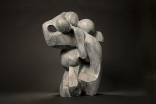 Mark Yale Harris; Chaos, 2008, Original Sculpture Bronze, 10 x 22 inches.