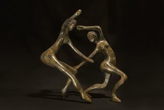 Mark Yale Harris; Dance Me To The End Of Love, 2012, Original Sculpture Bronze, 6 x 18 inches.