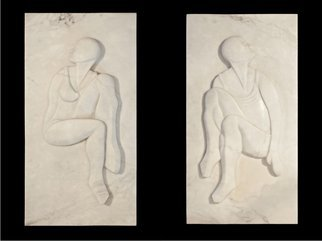 Mark Yale Harris; Dilly Dallie, 2012, Original Bas Relief, 24 x 48 inches. Artwork description: 241  2 Panels, 24x48 each ...