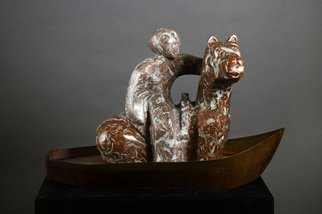 Mark Yale Harris; Me Upon My Pony On My Boat, 2006, Original Sculpture Mixed, 24 x 15 inches.
