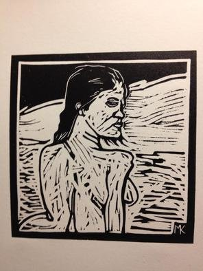 Mark Kimberlin; Breeze, 2013, Original Printmaking Linoleum, 6 x 6 inches.