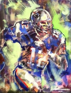 Mark Gray; Tom Brady By Mark Gray, 2018, Original Painting Oil, 28 x 22 inches. Artwork description: 241 Tom Brady by Mark Graywww.  MarksArtWorld.  comSports, Football...