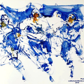Mark Gray, , , Original Painting Oil, size_width{blue_hockey_by_mark_gray-1540342005.jpg} X 22 inches