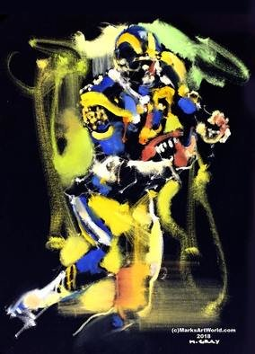 Mark Gray; Eric Dickerson By Mark Gray, 2018, Original Painting Oil, 18 x 24 inches. Artwork description: 241 Eric Dickerson - Rams Football by Mark Gray18 x24  - Oil on Canvas www. MarksArtWorld. com...