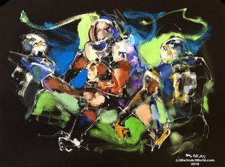 Mark Gray; Raider Football By Mark Gray, 2018, Original Painting Oil, 18 x 24 inches. Artwork description: 241  Raiders  Football by Mark Gray18 x24  Oil on Canvas Ph: 408- 298- 4700www. MarksArtWorld. com...