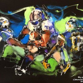 Mark Gray, , , Original Painting Oil, size_width{raider_football_by_mark_gray-1540943899.jpg} X 24 inches