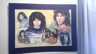 Mark Amodeo; Morrison Montage, 1979, Original Painting Acrylic, 2 x 3 inches. Artwork description: 241  The Doors rock Band, Acrylic on illustration board ...