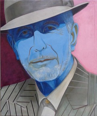 Mark Wholey; Portrait Of Leonard Cohen, 2018, Original Painting Oil, 40 x 34 inches. Artwork description: 241 Shortly before Leonard died i made this portrait. I love his smooth mysterious poetry and used that as the style for this painting. ...