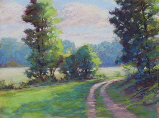 Marsha Savage; A Bend In The Road, 2008, Original Pastel, 16 x 12 inches. Artwork description: 241  A pastel from photograph near Ellijay, GA. ...
