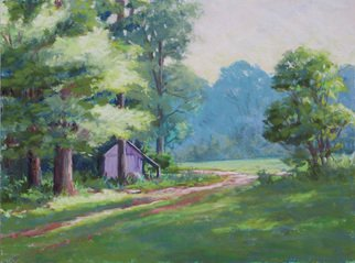 Marsha Savage; A Time Past, 2008, Original Pastel, 12 x 9 inches. Artwork description: 241  Pastel of a small barn, pasture and old roadway done from a photograph taken near Blue Ridge, GA. ...