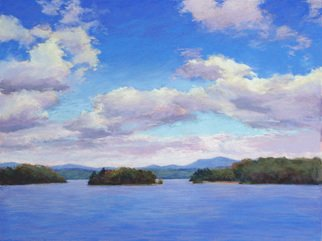 Marsha Savage; Blue Ridge Clouds, 2008, Original Pastel, 24 x 18 inches. Artwork description: 241  Done from a photograph taken at Lake Blue Ridge - Near Blue Ridge, GA. ...