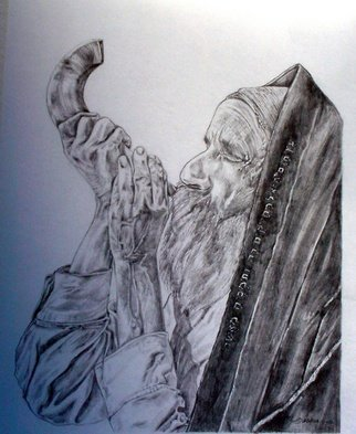 M Barona Caputo; Etz Chaim, 2006, Original Drawing Pencil, 9 x 12 inches. Artwork description: 241