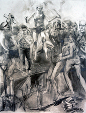 Artist: Martin Beck's, title: Big Allegorical Drawing, 2010, Drawing Other