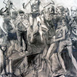 Artist: Martin Beck, title: Big Allegorical Drawing, 2010, Original Drawing Other