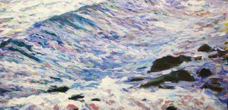 Marty Kalb; Antigua Waves  5, 2011, Original Painting Acrylic, 48 x 24 inches.