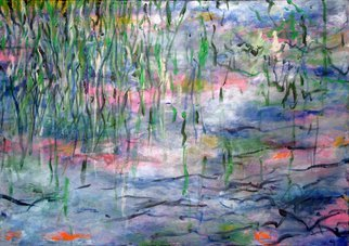 Marty Kalb; Homage To M, 1998, Original Painting Acrylic, 68 x 48 inches. Artwork description: 241   Homage to Monet's waterlilies  ...