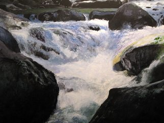 Marty Kalb; Texas Falls Vermont, 2000, Original Painting Acrylic, 30 x 22 inches. Artwork description: 241  Streams waterfalls and cascading water have always fascinated me. I found it amusing that