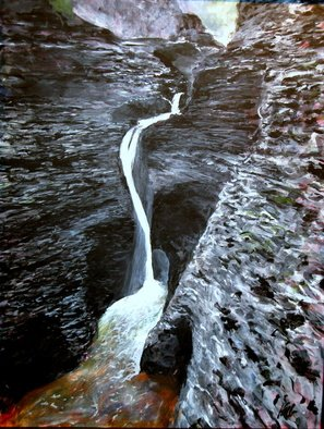 Marty Kalb; Watkins Glen NY Falls In ..., 2007, Original Painting Acrylic, 22 x 29 inches. Artwork description: 241   One of several paintings of Watkins Glen, s remarkable canyon ...