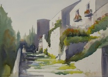 Artist: Maryann Burton's, title: Assisi, Italy, 2014, Watercolor