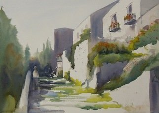 Maryann Burton; Assisi Italy, 2014, Original Watercolor, 20 x 14 inches.
