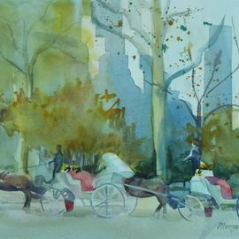 Maryann Burton, Carriage Stop, 2013, Original Watercolor, size_width{Carriage_Stop-1416340961.jpg} X 15 inches