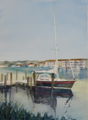Maryann Burton; Delaware Sailboat, 2015, Original Watercolor, 24 x 18 inches. Artwork description: 241 Framed size 32. 5x26. 5...
