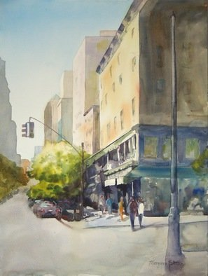 Maryann Burton; East 19th, 2015, Original Watercolor, 24 x 18 inches. Artwork description: 241 This painting received theJack Richeson Award II in the North East Watercolor Society 38th Annual International Open ExhibitionAttained Full Signature Membership NEWSFramed size 33. 5x27. 25...